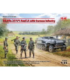 1:35 Sd.Kfz.251/1 Ausf.A with German Infantry