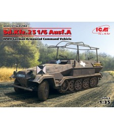 1:35 Sd.Kfz.251/6 Ausf.A, WWII German Armoured Command Vehicle