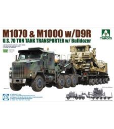 1:72 U.S. M1070&M1000 w/D9R 70 Ton Tank Transporter w/Bulldozer