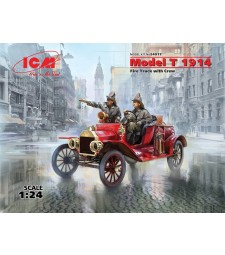 1:24 Model T 1914 Fire Truck with Crew - 2 figures