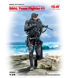 1:24 S.E.A.L. Team Fighter #1 (100% new molds) - 1 figure