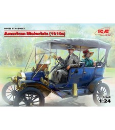 1:24 American Motorists (1910s) (1 male, 1 female figures) (100% new molds)