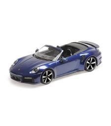 PORSCHE 911 (992)  TURBO S CABRIOLET - 2020 - BLUE METALLIC