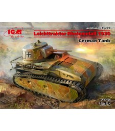 1:35 Leichttraktor Rheinmetall 1930, German Tank (100% new molds)