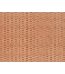 Plain Tile, red (28 x 10 cm) - 3D flexible foils