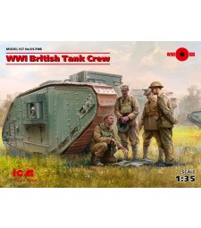 1:35 WWI British Tank Crew (4 figures) (100% new molds)