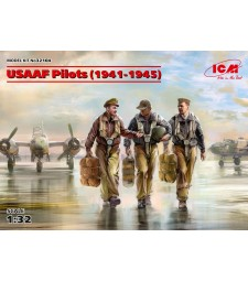 1:32 USAAF Pilots (1941-1945) (3 figures) (100% new molds)