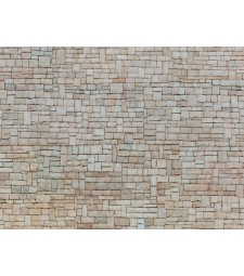 "3D Cardboard Sheet ""Lime Stone Wall"" white, 25 x 12.5 cm (H0)"