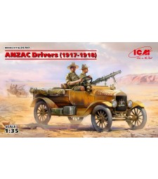 1:35 ANZAC Drivers (1917-1918) (2 figures) (100% new molds)