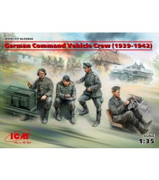 1:35 German Command Vehicle Crew (1939-1942) (4 figures) (100% new molds)