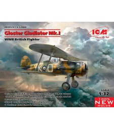 1:32 Gloster Gladiator Mk.I, WWII British Fighter