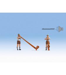 Alpenhorn blower with sound
