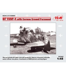 1:48 Bf 109F-4 with German Ground Personnel - 8 figures
