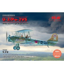 1:72 U-2/Po-2VS, WWII Soviet Light Night Bomber (100% new molds)