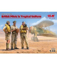 1:32 British Pilots in Tropical Uniform (1939-1943) (3 figures) (100% new molds)