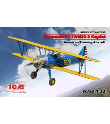 1:32 Stearman PT-17/N2S-3 Kaydet , American Training Aircraft (100% new molds)