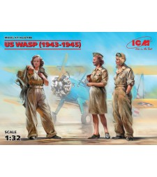 1:32 US WASP (1943-1945) (3 figures) (100% new molds)