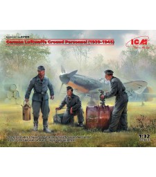 1:32 German Luftwaffe Ground Personnel (1939-1945) (3 figures) (100% new molds)