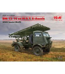 1:35 BM-13-16 on W.O.T. 8 chassis, WWII Soviet MLRS