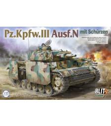 1:35 Panzer III Ausf N with schürzen