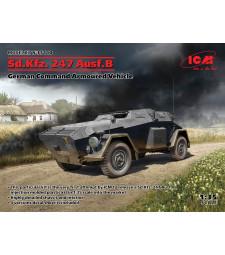 1:35 Sd.Kfz. 247 Ausf.B, German Command Armoured Vehicle  (100% new molds)