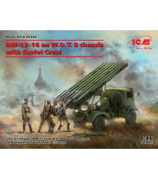 1:35 BM-13-16  on W.O.T. 8 chassis with Soviet Crew
