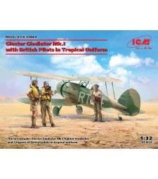 1:32 Gloster Gladiator Mk.I with British Pilots in Tropical Uniform