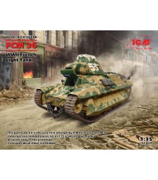 1:35 FCM 36, WWII French Light Tank (100% new molds)