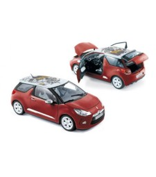 CITROEN DS3 2010 Sanguine red with white roof