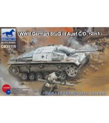 1:35 WWII German StuG III Ausf C/D with 75mm StuK 37/L24 & 75m