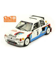1985 Peugeot 205 T16 #8 Saby/Fauchille Rallye Monte Carlo, white