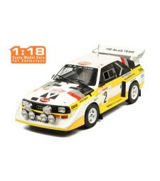 1986 Audi Sport Quattro S1 #2 Röhrl/Geistdörfer Rallye Monte Carlo, yellow/white