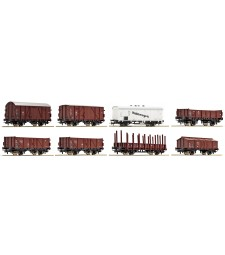 Set of 8 freight cars DRG, II epoche.