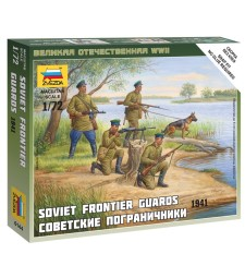1:72 Soviet Frontier Guards - 4 figures