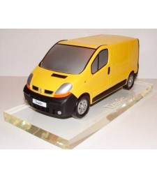 Renault Trafic 2002 Yellow Painted Sculpture