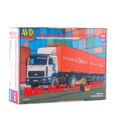 MAZ-5432(new) tractor truck with semitrailer MAZ-938920 - Die-cast Model Kit