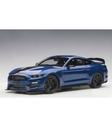 FORD MUSTANG SHELBY GT350R (LIGHTNING BLUE WITH BLACK STRIPES)