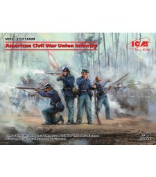 1:35 American Civil War Union Infantry (100% new molds)