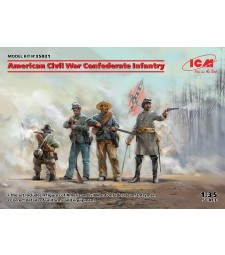1:35 American Civil War Confederate Infantry (100% new molds)