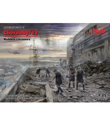 1:35 Chernobyl#3. Rubble cleaners (5 figures)