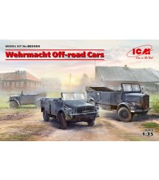 1:35 Wehrmacht Off-road Cars (Kfz.1, Horch 108 Typ 40, L1500A)