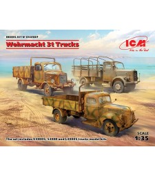 1:35 Wehrmacht 3t Trucks (V3000S, KHD S3000, L3000S)