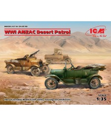 1:35 WWI ANZAC Desert Patrol (Model T LCP, Utility, Touring)