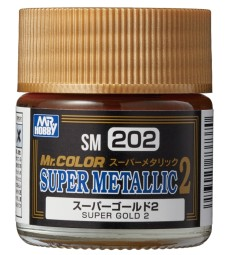 SM-202 Mr. Color Super Metallic 2 - Super Gold 2 (10ml)