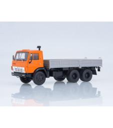 KAMAZ-5320 Flatbed Truck, Orange-grey