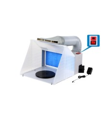 Spray booth HS-E420DCLK with LED light