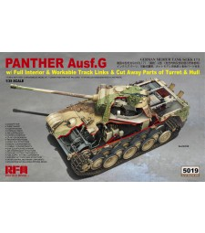 1:35 PANTHER AUSF.G W/ FULL INTERIOR & CUT AWAY PARTS & WORKABLE TRACK LINKS