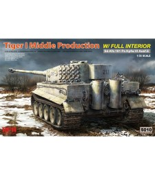 1:35 TIGER I MIDDLE PRODUCTION W/ FULL INTERIOR & WORKABLE TRACK LINKS