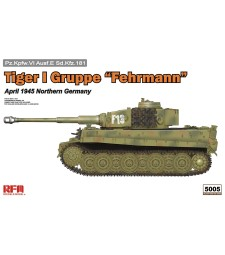 "1:35 TIGER I GRUPPE ""FEHRMANN"" APRIL 1945 W/ WORKABLE TRACK LINKS"
