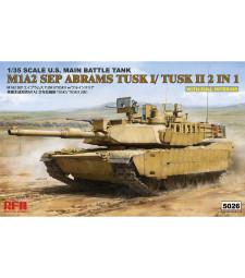 1:35 M1A2 TUSK I/ TUSK II WITH FULL INTERIOR